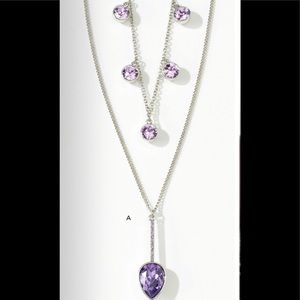 Touchstone Crystal Double strand necklace lavender